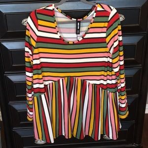 XL Candy Stripe Muse Top